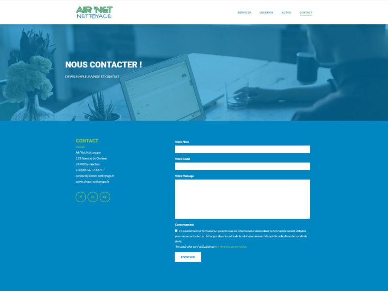 Présentation page contact