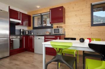 Chamonix residence de l'Arve cuisine